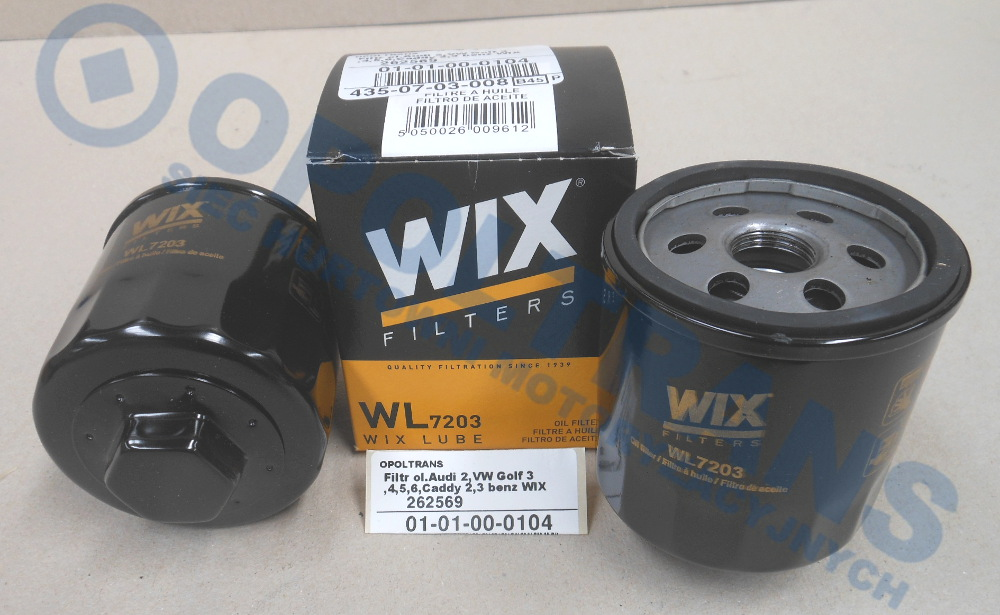 Filtr  ol.Audi  2,VW  Golf  3,4,5,6,Caddy  2,3  benz  WIX