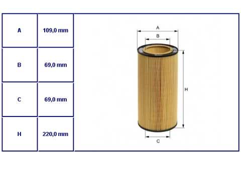 Wkład  fil.ol.DAF  85CF,XF95