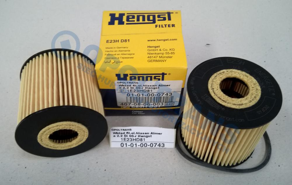Wkład  fil.ol.Nissan  Almera  2.2  Di  00-r  Hengst