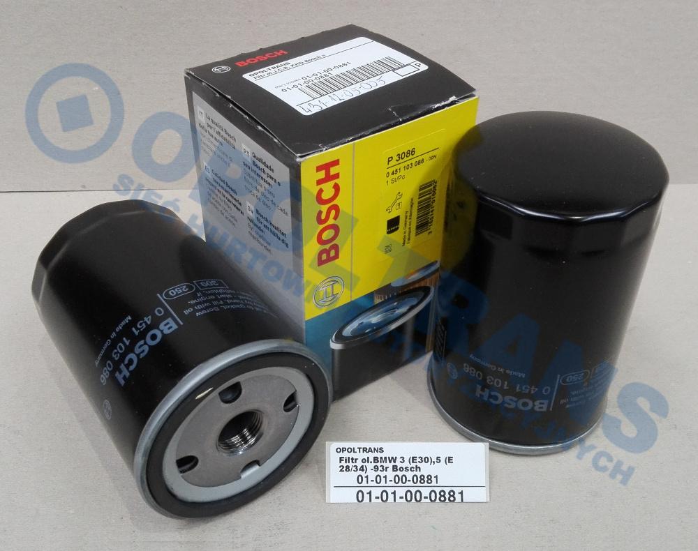 Filtr  ol.BMW  3  (E30),5  (E28/34)  -93r  Bosch