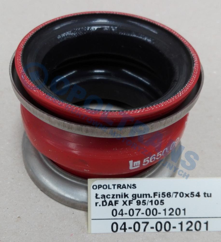 Łącznik  gum.Fi56/70x54  turbo.DAF  XF95/105,CF85