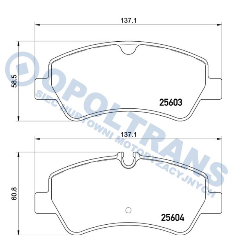 Klocki  25603/25604  Ford  Transit  -15r-  /T/  Textar