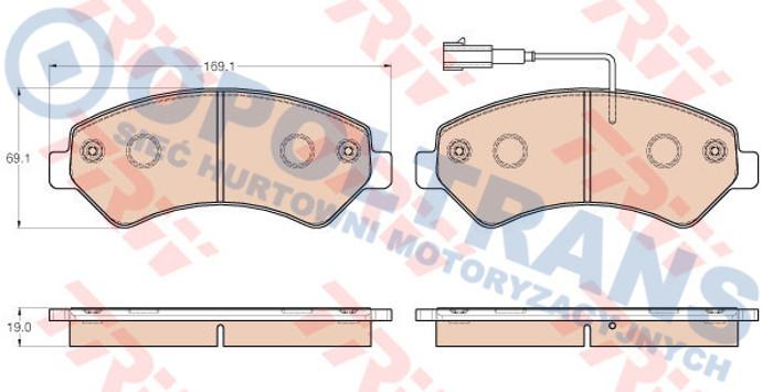 Klocki  24465  Fiat  Duc/Peug.  Boxer  -11r-  /T/  TRW