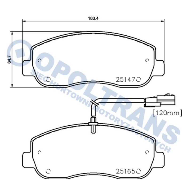 Klocki  25147  RVI  Master/Opel  Movano  -14r-/P/Textar
