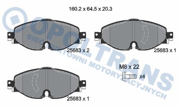 Klocki  25683  VW  Caddy  IV/Tiguan  15r-  /P/  Textar