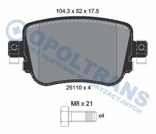 Klocki  25110  VW  Caddy  IV/Alltrack  15r-  /T/  Textar