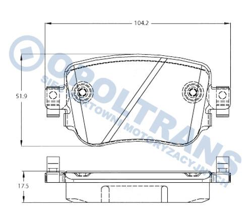Klocki  25110  VW  Caddy  IV/Alltrack  15r-  /T/  TRW