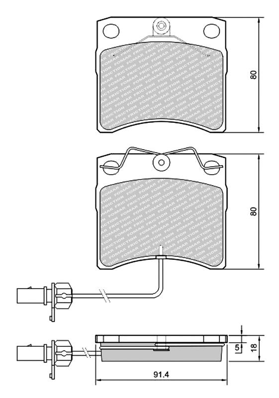 Klocki  23176  VW  T4    99-03  /P/  Fomar